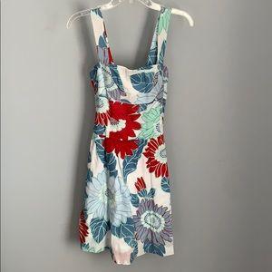 5th Culture Ladies White W/ Floral Design Dress
